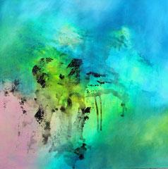 2014  unter´m Himmi  I,   99,4 x 100,4 cm auf Papier