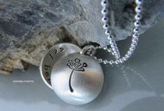 Medaillon (Gr. M) -  bitte gewünschtes Motiv (Pusteblume) beim Bestellen mit angeben! - mit Kugelkette