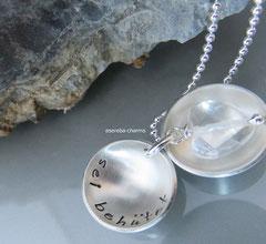 Medaillon (Gr. M) -  das Bergkristallherz ist zur Zeit leider ausverkauft!