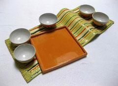 Pessachgedeck Schal mit 5 Schüsselchen 6,5x58x30, 390€