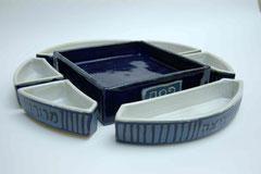 Pessachset blau/weiß  Einzelteile beschriftet 6x40x40, 450€