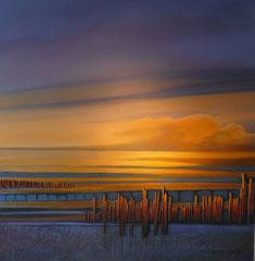 Abend am Strand 90x90