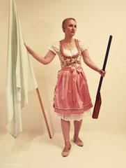 Die Freiheit führt das Volk an, Giuseppina Negrelli 1809, digitale Fotografie 2017, 30 x 21 cm