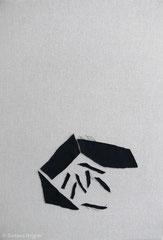 Ohne Titel 2017, Baumwolle/Wolle, 53 x 37 cm