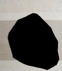 Ohne Titel 2014, Leinen/Wolle, 85 x 75 cm
