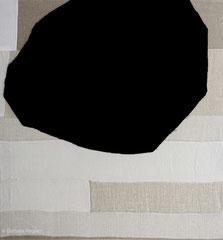 Ohne Titel 2014, Leinen/Wolle, 85 x 80 cm