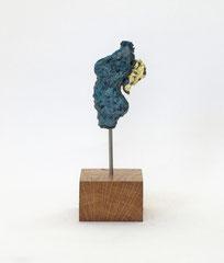 Miniatur-Torso aus Pappmachen mit Bronzepatina und Blattgold - Größce ca: 22 cm - ohne Titel