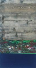 """Drei Aggregatszustände"" Acryl auf Holz 36x70   ""Three aggregate states"" Acrylic on wood in 14,1x27,5"
