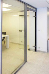 Cloison de bureau vitrée avec porte de verre sécurite