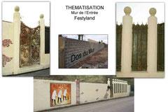 Thématisation du Mur de l'Entrée - Festyland