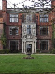 Castle Bromwich Hall; The porch was added by Sir John Bridgeman I after 1657.