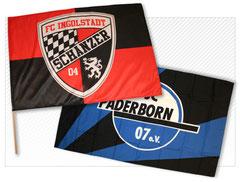 Fahne mit eigenem Logo
