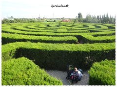 Labyrinth im CyHerbia Botanical Park