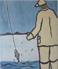 Angler (Karatchaij),  Acrylfarbe a. Leinwand,  200 x 170 cm,  2011