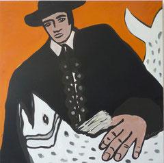 Matador I,  Acrylfarbe a. Leinwand, 110,5 x 105,5 cm,  2012