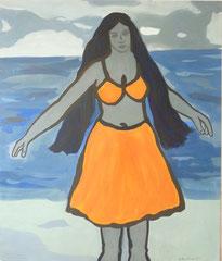 Hula (Bikini),   Acrylfarbe a. Leinwand,  200 x 170 cm,  2011