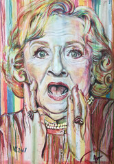 """Betty White"" - Kreide/Acryl auf Leinwand, 100 x 70 cm"
