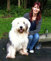 Renate Schraner und Arthos / Old English Sheepdog