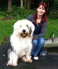 Renate Schraner und Arthos / Old English Sheepdog
