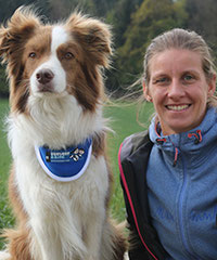 Bettina Hadorn und Lennox / Border Collie