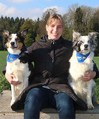 Denise Stillhart mit Jolly und Fairy  / Border Collies