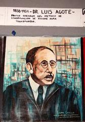 Mural en Homenaje al Dr. Luís Agote en el Hospital Rivadavia. CABA.