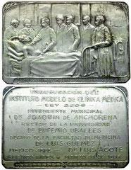 1. Medalla Inauguración del Instituto Modelo de Clínica Médica. Buenos Aires, 31 de Marzo de 1914.