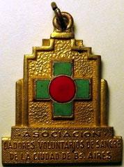 10. Frente Medalla Honorífica, Asociación de Dadores Voluntarios de Sangre de la Ciudad de Buenos Aires, 1960.