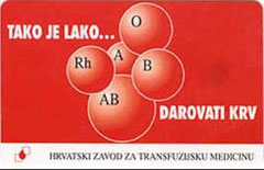 CROATIA - 1997 / TK28 - DARUJTE KRV 2 - Blood Donation - 200 units, (Frente).