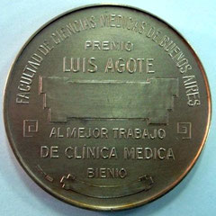4. Dorso Medalla Dr. Luís Agote, Premio Bienal, 1960?.