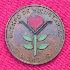 17. Frente Medallita honorífica del Cuerpo de Voluntarias Confederación CORDIC, Gentileza Dr. Carlos Di Bartolo.