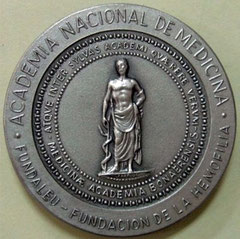 12. Dorso Medalla Dr. Alfredo Pavlovsky (1907-1984) - Academia Nacional de Medicina / Fundación de la Hemofilia. 1984.
