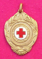 8. Frente Medalla Honorífica del Centro de Dadores Voluntarios de Sangre Eva Perón de Almirante Brown - Premio a la colaboración a Dardo Quiroga, 9-8-1955. Gentileza Dr. Carlos Di Bartolo. La Falerística estudia este tipo de Condecoraciones.
