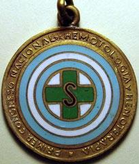 6. Frente Medalla Conmemorativa del Primer Congreso Argentino de Hematología y Hemoterapia. Buenos Aires. 2 al 8 de Octubre de 1950.