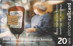 IRELAND chipcard Irish Blood Transfusion Service.