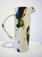 "Pitcher- ""Watercolor on the table""- I, Toshi -Takeuchi, Porcelain/stoneware, glaze /  price: by request"