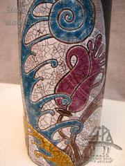 7-016.  Бутыль для красного вина (фрагмент).