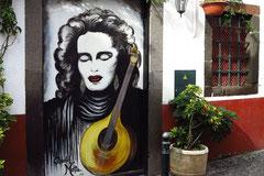Funchal, Bemalte Haustüren in der Altstadt