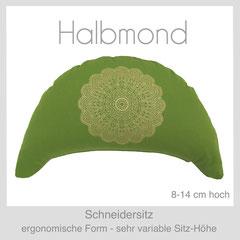 Designer Meditationskissen Halbmond