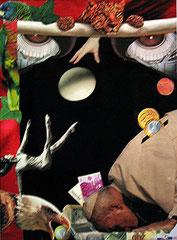 El Huevo de la Serpiente (collage tradicional) VENDIDO
