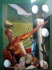 Cristina (collage tradicional) Vendida