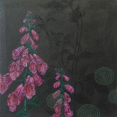 Dunkelheit mit Digitalis, 2015, 40 x 40 cm
