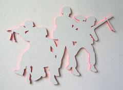 small-size-shining-soldiers, 2010, 55 x 78 cm (Acryl auf MDF)