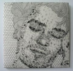 Innocent dreams III, 2006, 76 x 76 cm (gepolstert)
