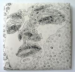 Innocent dreams I, 2006, 76 x 76 cm (gepolstert)