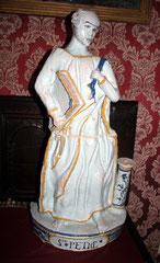Statue de St Pierre après restauration