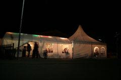 Dämmerschoppen 2008 Die Zelte von Aussen