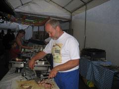 Dämmerschoppen 2008Der Chef am Buffet