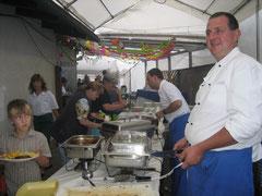 Dämmerschoppen 2008 am Buffet