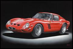 """ FERRARI 250 GTO ""  acrylique sur toile de lin  73 x 116 cm"